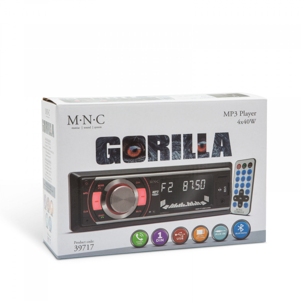 Radio player auto Gorilla - cu USB / SD card / AUX / Bluetooth si telecomanda 6