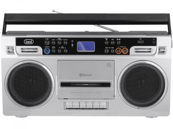 Radiocasetofon portabil RR 504 BT, FM, Bluetooth, MP3, USB, argintiu Trevi 0