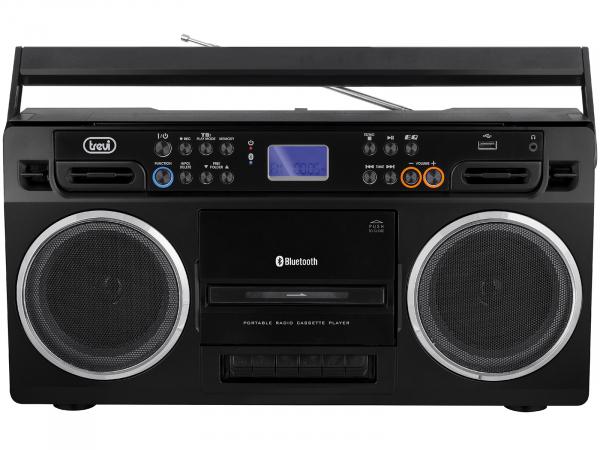 Radiocasetofon portabil RR 504 BT, FM, Bluetooth, MP3, USB, negru Trevi [0]