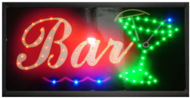 Reclama luminoasa LED pentru ''BAR'' - alimentare 220v 0