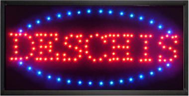 Reclama luminoasa LED ''deschis'', cu animatie - alimentare 220v [0]