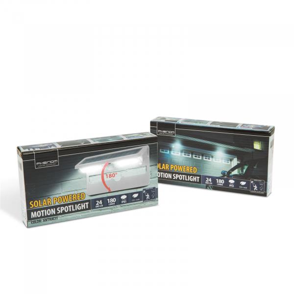 Proiector solar cu LED, cu senzor de miscare si de lumina-ALB 3