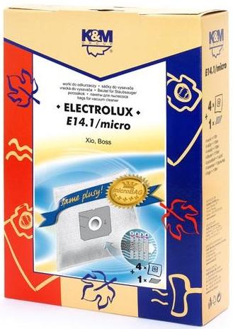 Sac aspirator Electrolux Xio, sintetic, 4X saci + 1 filtru, K&M 0
