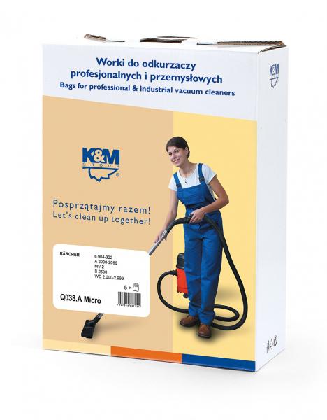 Sac aspirator Karcher, sintetic, 5 X saci, K&M 0