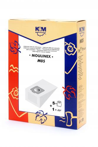 Sac aspirator Moulinex Compact, hartie, 5X saci + 1 filtru, K&M [0]