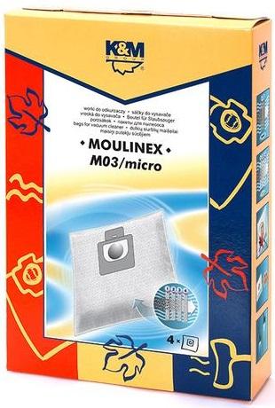 Sac aspirator Moulinex, sintetic, 4X saci, K&M [0]
