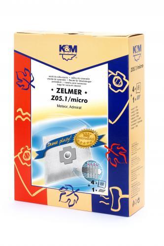 Sac aspirator Zelmer 1010, sintetic, 4X saci + 1 filtru, K&M  [0]