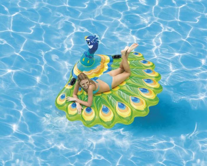 Saltea gonflabila pentru piscine model paun - PEACOCK ISLAND 57250EU [0]