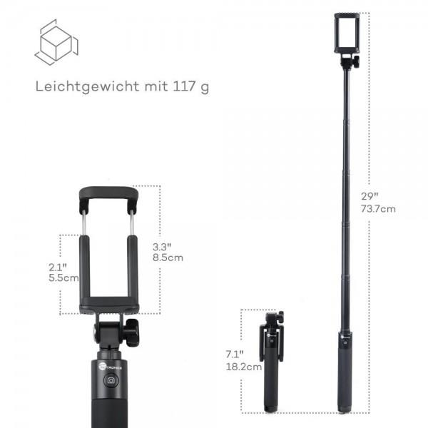 Selfie Stick TaoTronics TT ST001 cu Bluetooth din aluminiu [5]