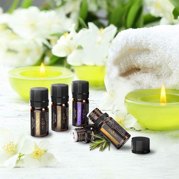 Set 12 uleiuri esentiale Anjou 12x5ml puritate 100% pentru aromaterapie [4]