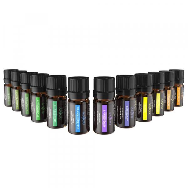 Set 12 uleiuri esentiale Anjou 12x5ml puritate 100% pentru aromaterapie [0]