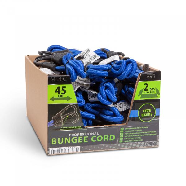 Set cordeline fixare extensoare cauciuc profesionale - Albastru - 45 cm x 8 mm - 2 buc. / pachet 4