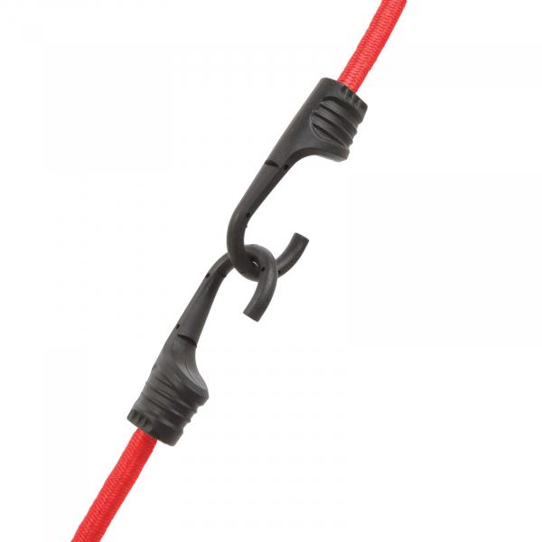 Set de cordeline de fixare extensoare cauciuc profesionale - Roşu - 60 cm x 8 mm - 2 buc. / pachet 1