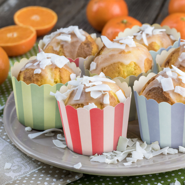 Set gofraje cupe de hârtie pentru briose - muffin 0