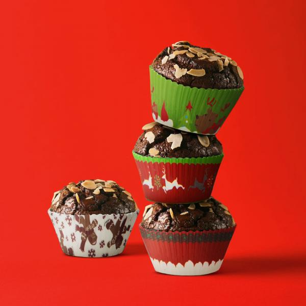Set gofraje de hârtie muffin - model Crăciun - 100 buc. / pachet 0