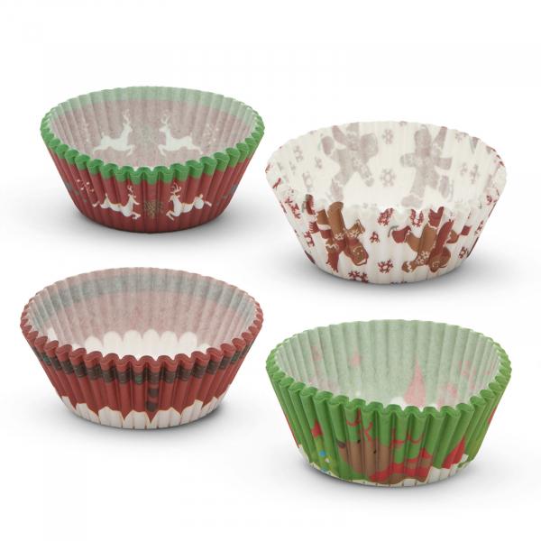 Set gofraje de hârtie muffin - model Crăciun - 100 buc. / pachet 2