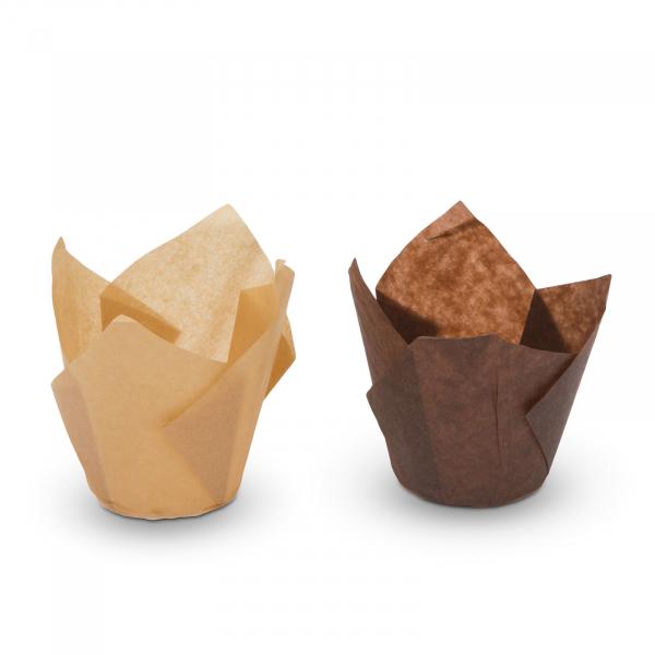 Set gofraje de hirtie pentru briose - model lalea - 100 buc. / pachet 1