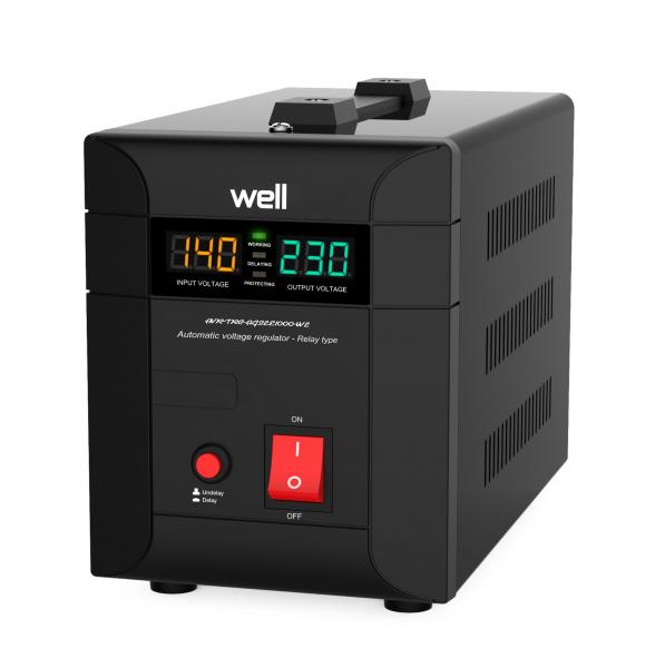 Stabilizator automat de tensiune Agile 1000VA/700W Well 0