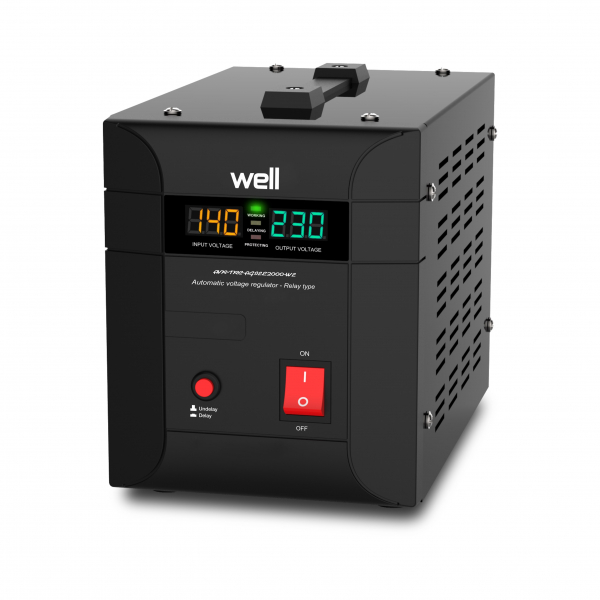 Stabilizator automat de tensiune Agile 2000VA/1400W Well [0]