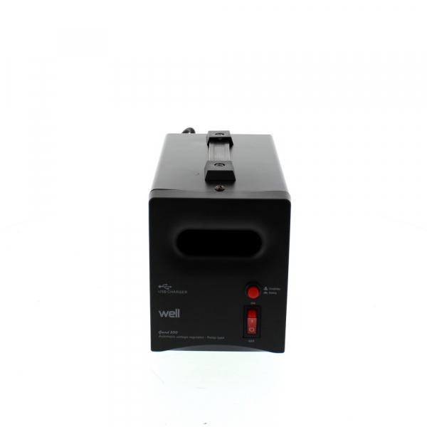 Stabilizator automat de tensiune cu releu 500VA, negru Well [0]