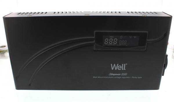 Stabilizator automat de tensiune cu releu 500VA, orizontal, Well [0]