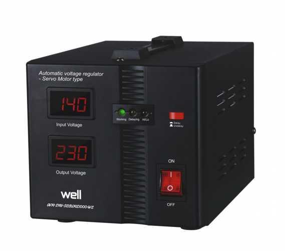 Stabilizator automat de tensiune cu servo motor Secure 1000VA, Well 0