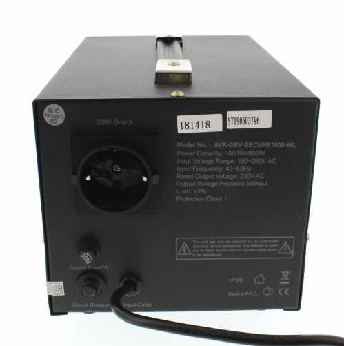 Stabilizator automat de tensiune cu servo motor Secure 1000VA, Well 2