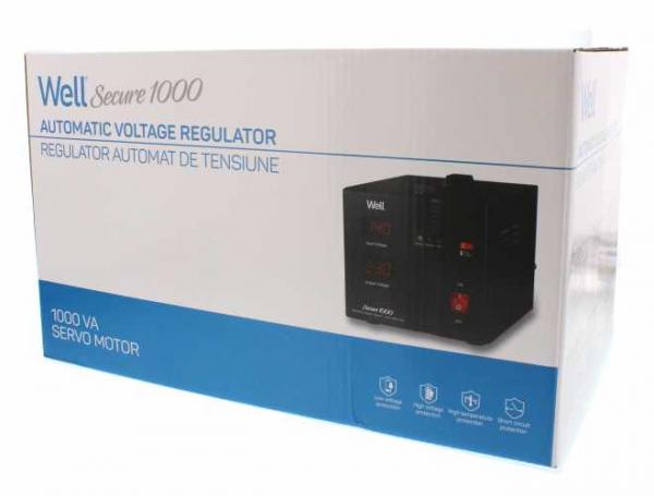 Stabilizator automat de tensiune cu servo motor Secure 1000VA, Well 3