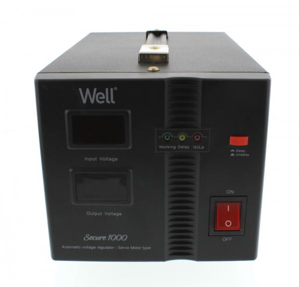Stabilizator automat de tensiune cu servo motor Secure 1000VA, Well 1