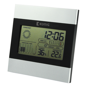 Statie meteo de interior cu afisaj LCD, Konig [0]