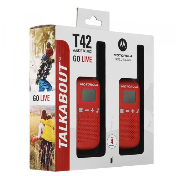 Statie radio PMR portabila Motorola Talkabout T42 RED set 2 buc walkie talkie [2]