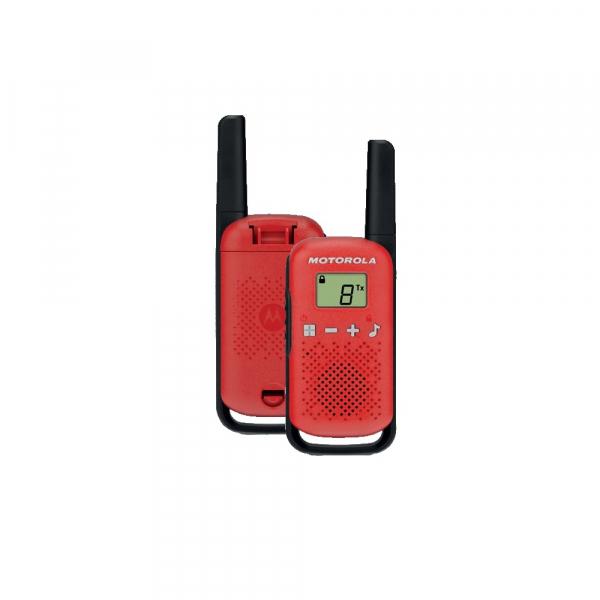 Statie radio PMR portabila Motorola Talkabout T42 RED set 2 buc walkie talkie [0]