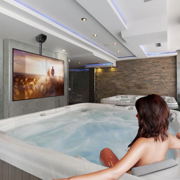 """Suport-consolă TV cu fixare pe tavan 360° - 32""""-65"""" 2"""