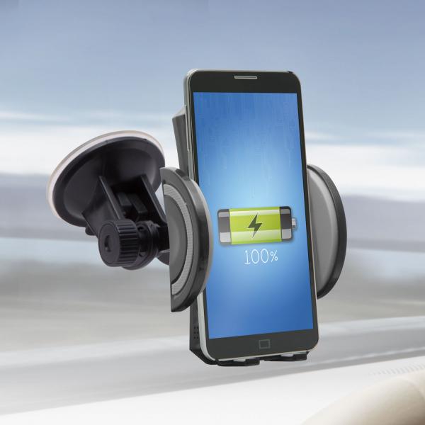 Suport de telefon auto cu încarcare wireless fara fir 0