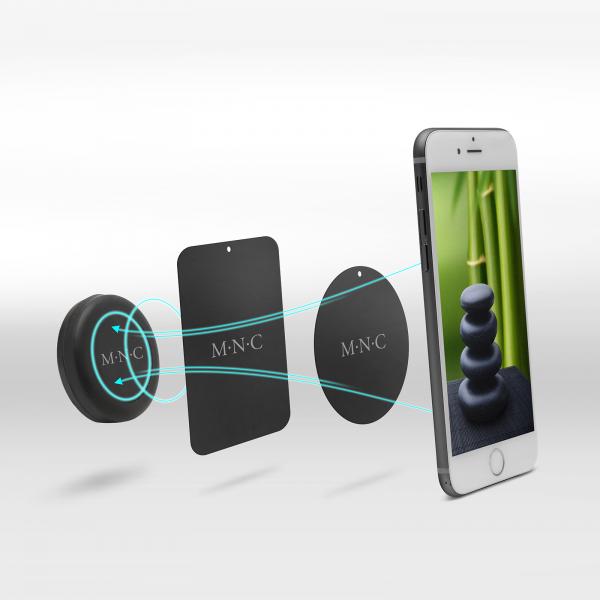 Suport magnetic auto universal pentru telefon sau navigatie - culoare neagra 1