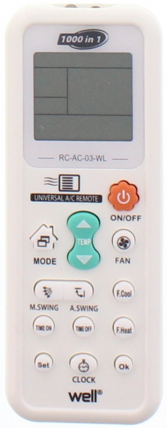 Telecomanda universala pentru aparate de aer conditionat Well [0]