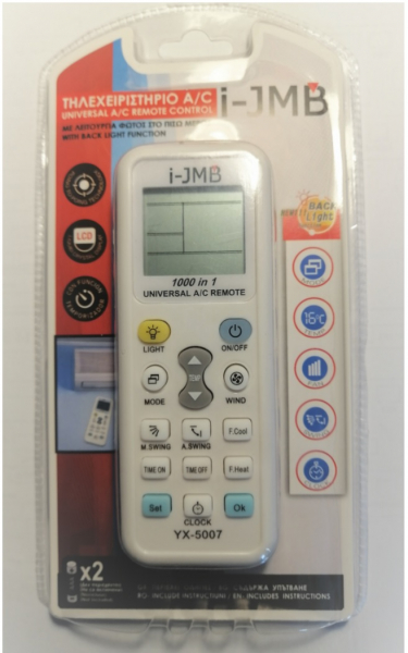 Telecomanda universala pentru aparate de aer conditionat YX-5007 0