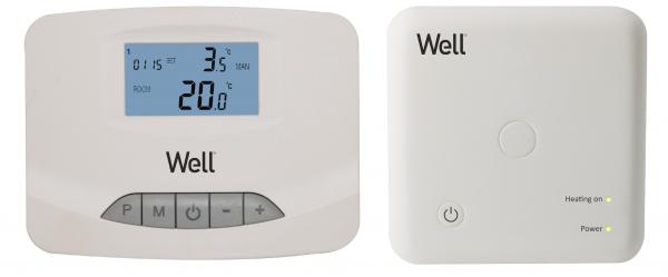 Termostat electronic programabil cu afisaj digital wireless Well 0