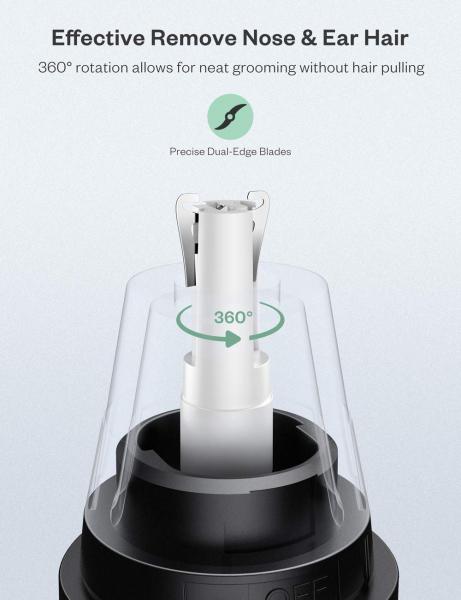 Trimmer pentru nas urechi Anjou AJ FS005 Cap detasabil si lavabil si lumina LED 5