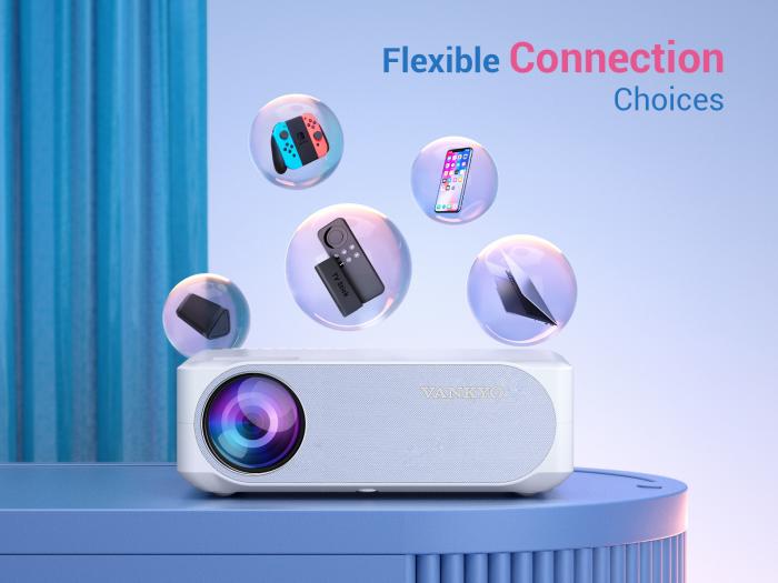 Videoproiector VANKYO Performance V630W, 6000 Lumeni,Wifi, Native 1080p, LED, HDMI, VGA, AV, USB, Telecomanda, HDMI [5]