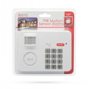 Alarma cu senzor de miscare cu protectie cu cod PIN2