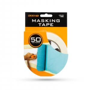 Banda de mascare - cu adeziv pe baza de apa - 50 m x 48 mm - alb [2]