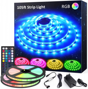 Banda LED RGB Novostela 32m, 960 Leduri, Telecomanda RF cu 44 butoane0