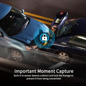 Camera auto DVR Dubla Oglinda VanTop H610, 2.5K, Bord si Spate, Touch-Screen, Unghi 160 grade, Senzor Sony IMX 335, G Senzor, Display 10   IPS1