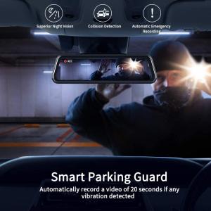 Camera auto DVR Dubla Oglinda VanTop H610, 2.5K, Bord si Spate, Touch-Screen, Unghi 160 grade, Senzor Sony IMX 335, G Senzor, Display 10   IPS2
