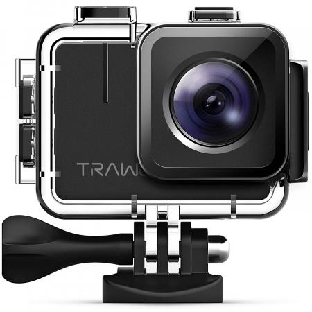 Camera video sport Apeman A100 TRAWO, 4K 50fps, Wi-Fi, Stabilizator imagine, waterproof 40m, 2-inch, 2 Acumulatori [0]