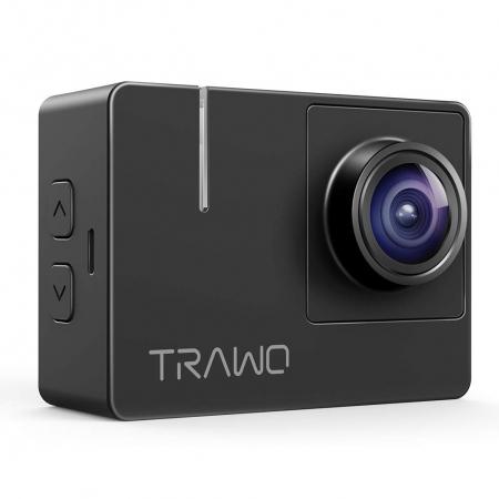 Camera video sport Apeman A100 TRAWO, 4K 50fps, Wi-Fi, Stabilizator imagine, waterproof 40m, 2-inch, 2 Acumulatori [1]