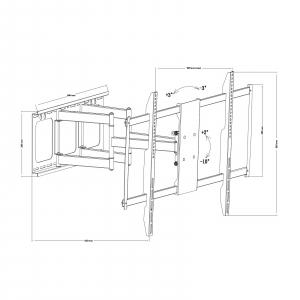 """Consolă-suport de perete pentru TV LCD, cu braţ, 60""""-100"""" sarcina max. 80kg2"""