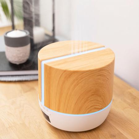 Difuzor aroma cu Ultrasunete Smart Cecotec PureAroma 550 Connected, control din Smartphone, 7 culori LED, boxa incorporata - Stejar2