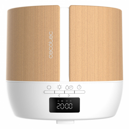 Difuzor aroma cu Ultrasunete Smart Cecotec PureAroma 550 Connected, control din Smartphone, 7 culori LED, boxa incorporata - Stejar6